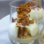 xixona amb gelat de vainilla i streuzel